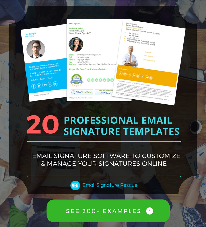20 email signature templates