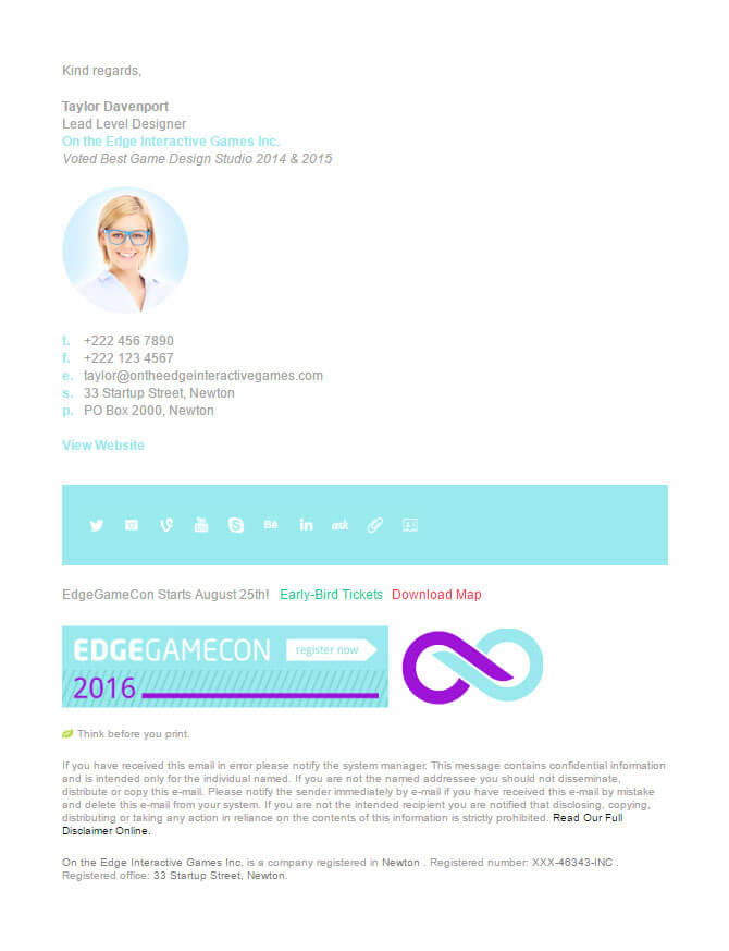 Market Me Email Signature Template
