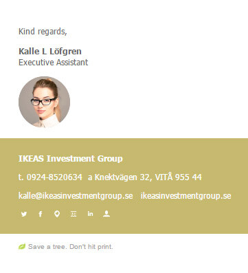 Understated Email Signature Template