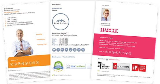 Email Signature Templates - Outlook, Gmail, Mac Mail +45 more