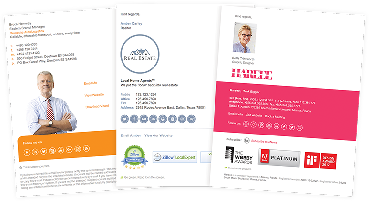 email signature rescue templates