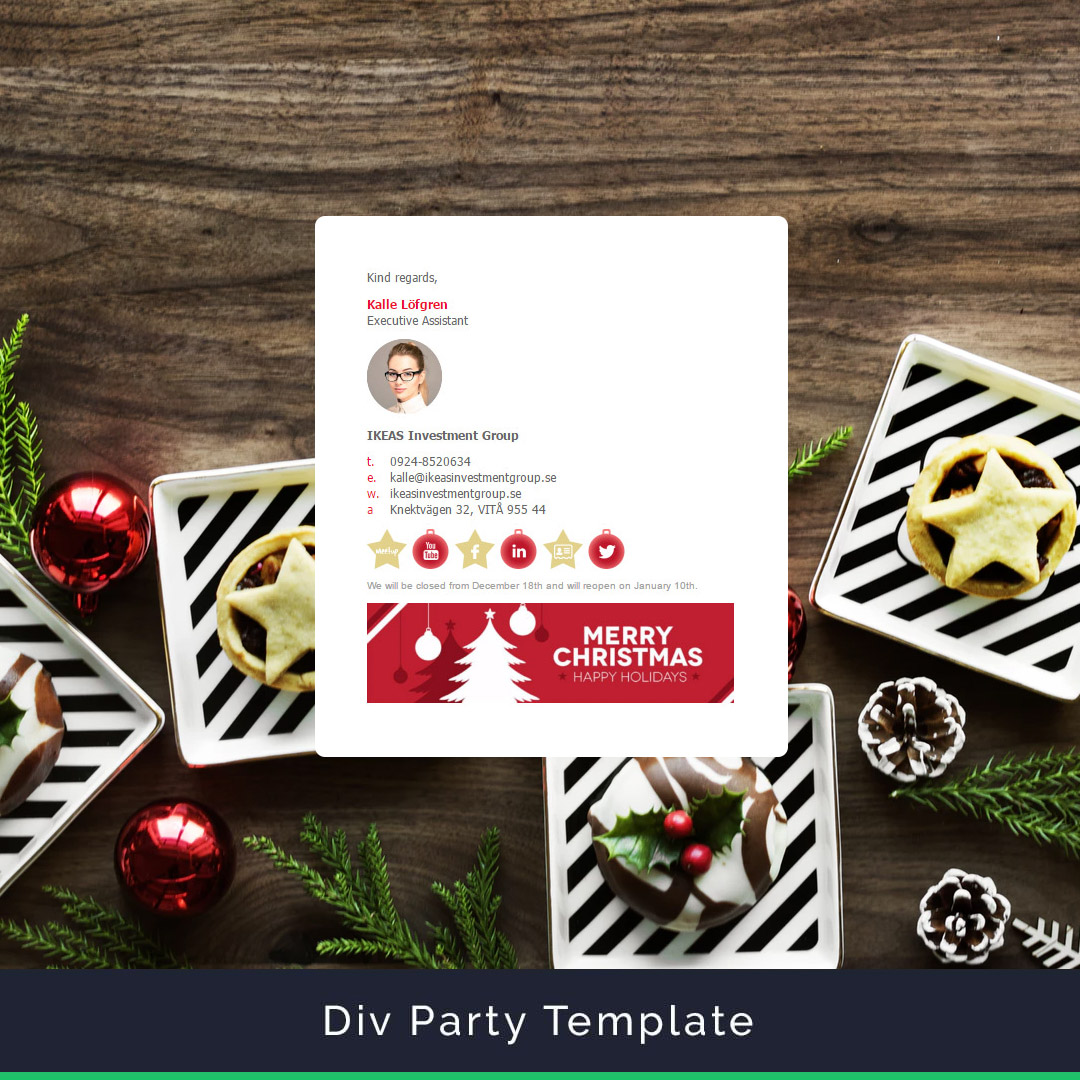 Divparty Email Signature Template Example Christmas