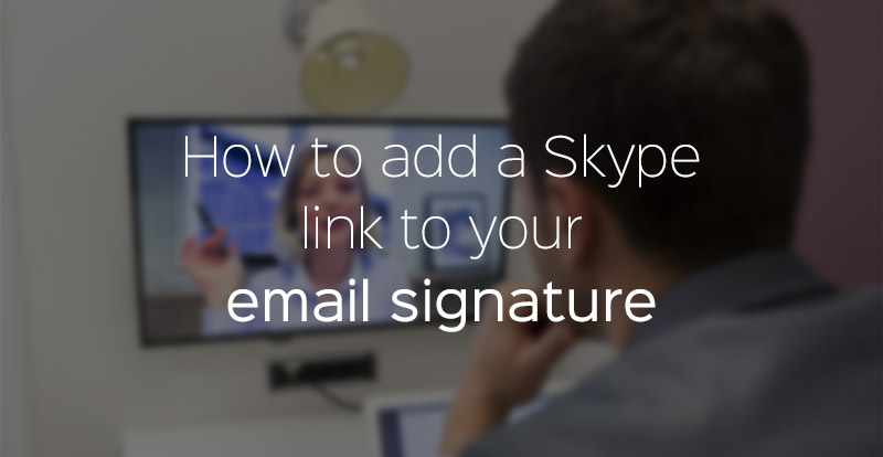 how to add a link to skype in your email signature