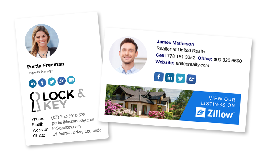 realtor HTML email signature examples