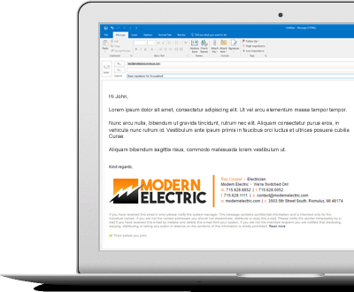 email signatures for electricians