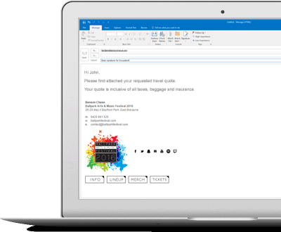 email signatures for event organizers