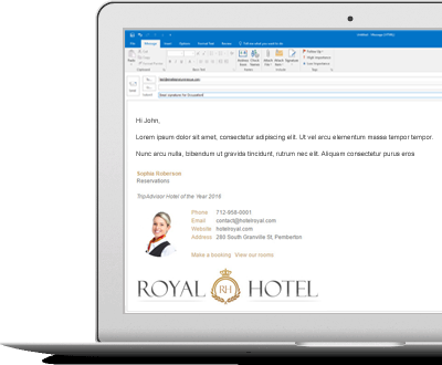 email signatures for hotels