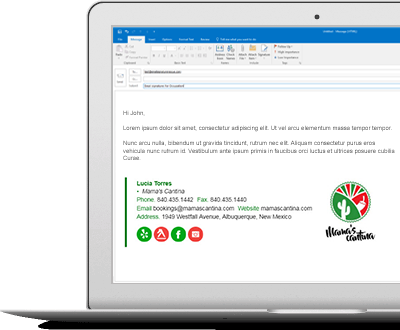 email signatures for restaurants