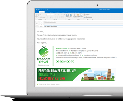 Email Signatures for Travel Agents
