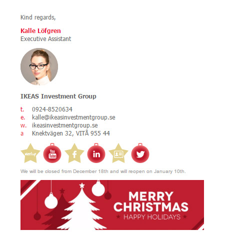 Christmas Email Signature Template