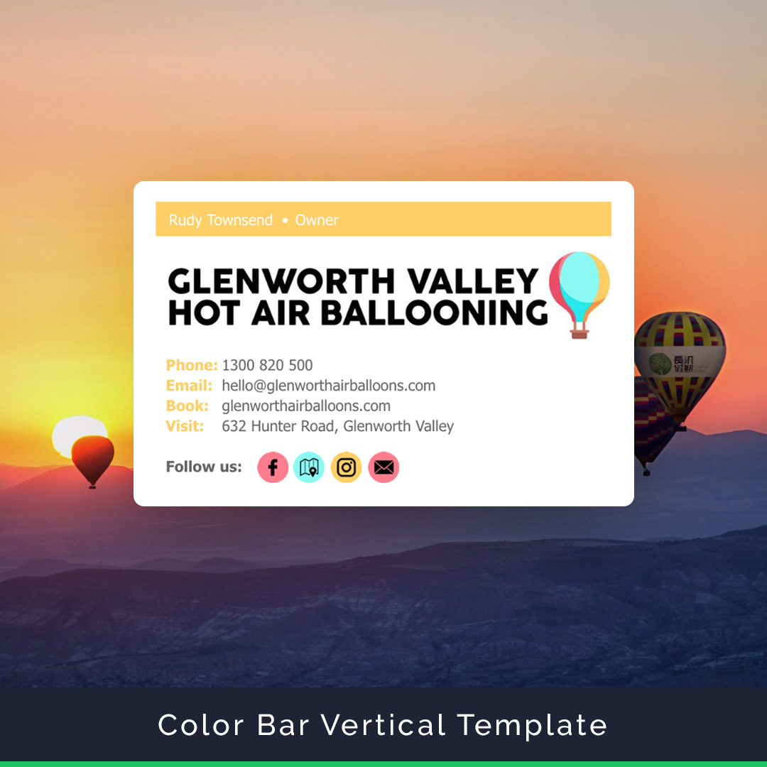 ColorBar email signature template