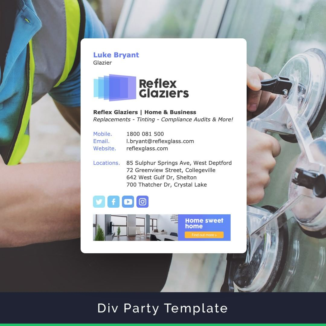 Div Party email signature template
