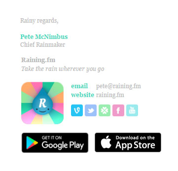 Bizedge Rainingfm Email Signature Template