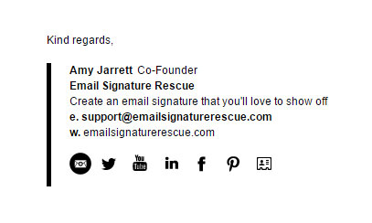 Horizontal Bar Email Signature Template