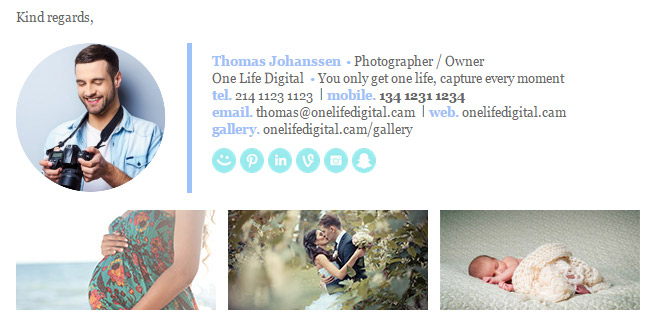Professional Email Signature Template Photographer