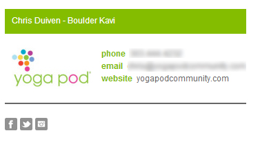 Colorbar Email Signature Template - Customer Example