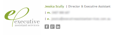 Exec Services Email Signature Example