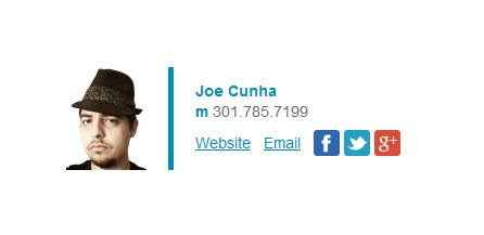 The Professional Email Signature Template - Customer Example
