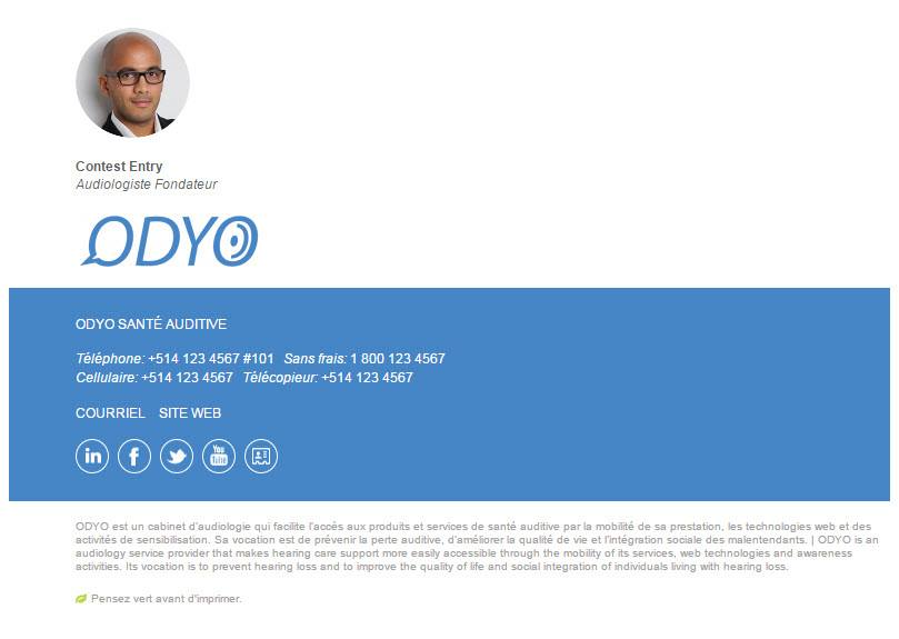 Odyo Email Signature Example