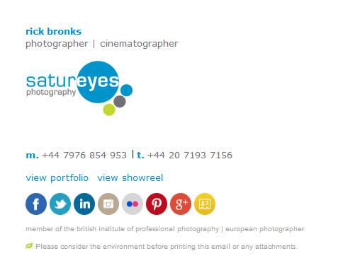 Satureyes Photography Email Signature Example