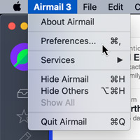 Open Airmail preferences