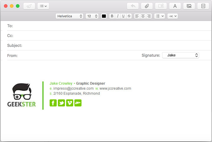 apple mail sierra macos html email signature compose