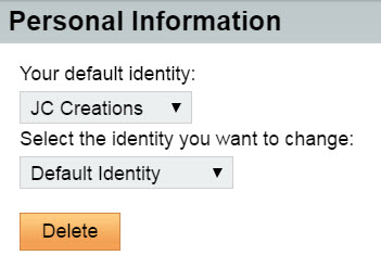 Select your signature from the identity list