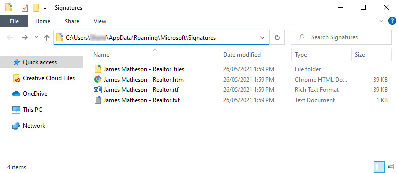 Name your new signature and set it to send with new and reply emails by default