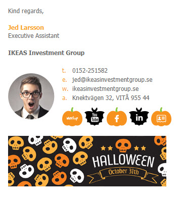 halloween email signature template