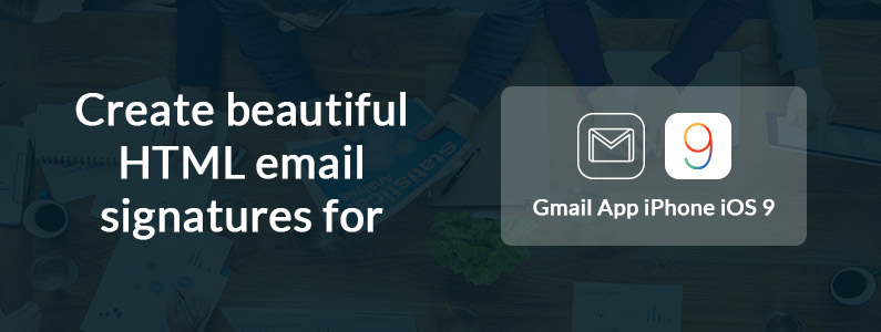 How to setup an email signature on iPhone Gmail App iOS 10