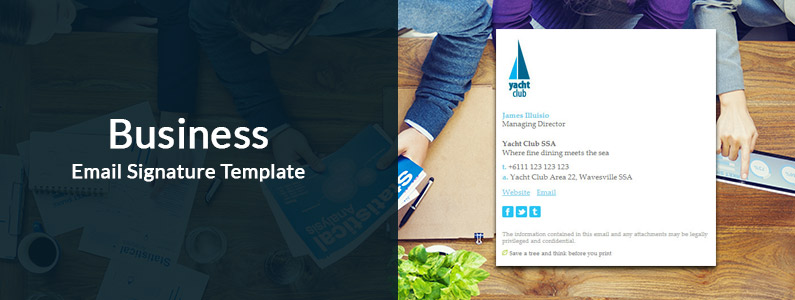 business email signature template