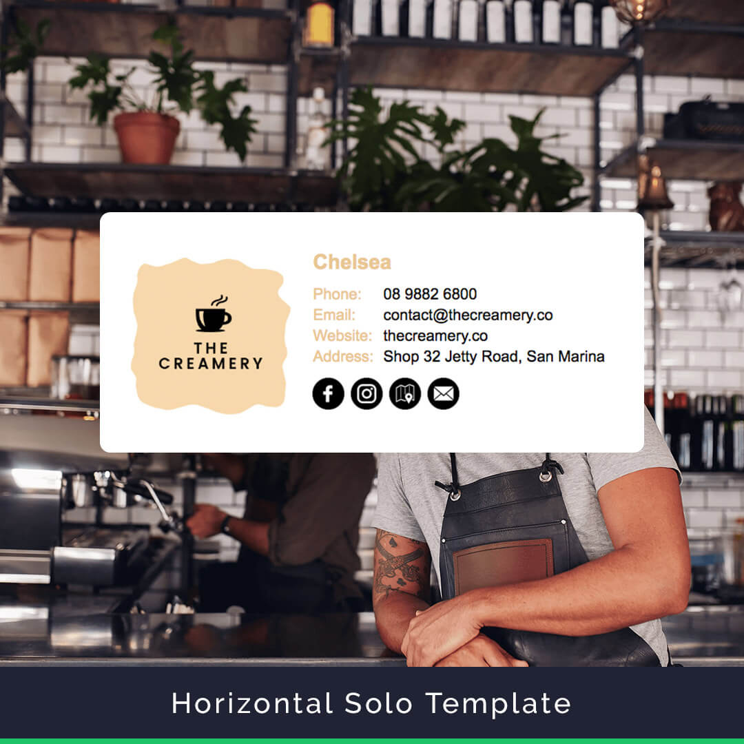 Horizontal Email Signature Template