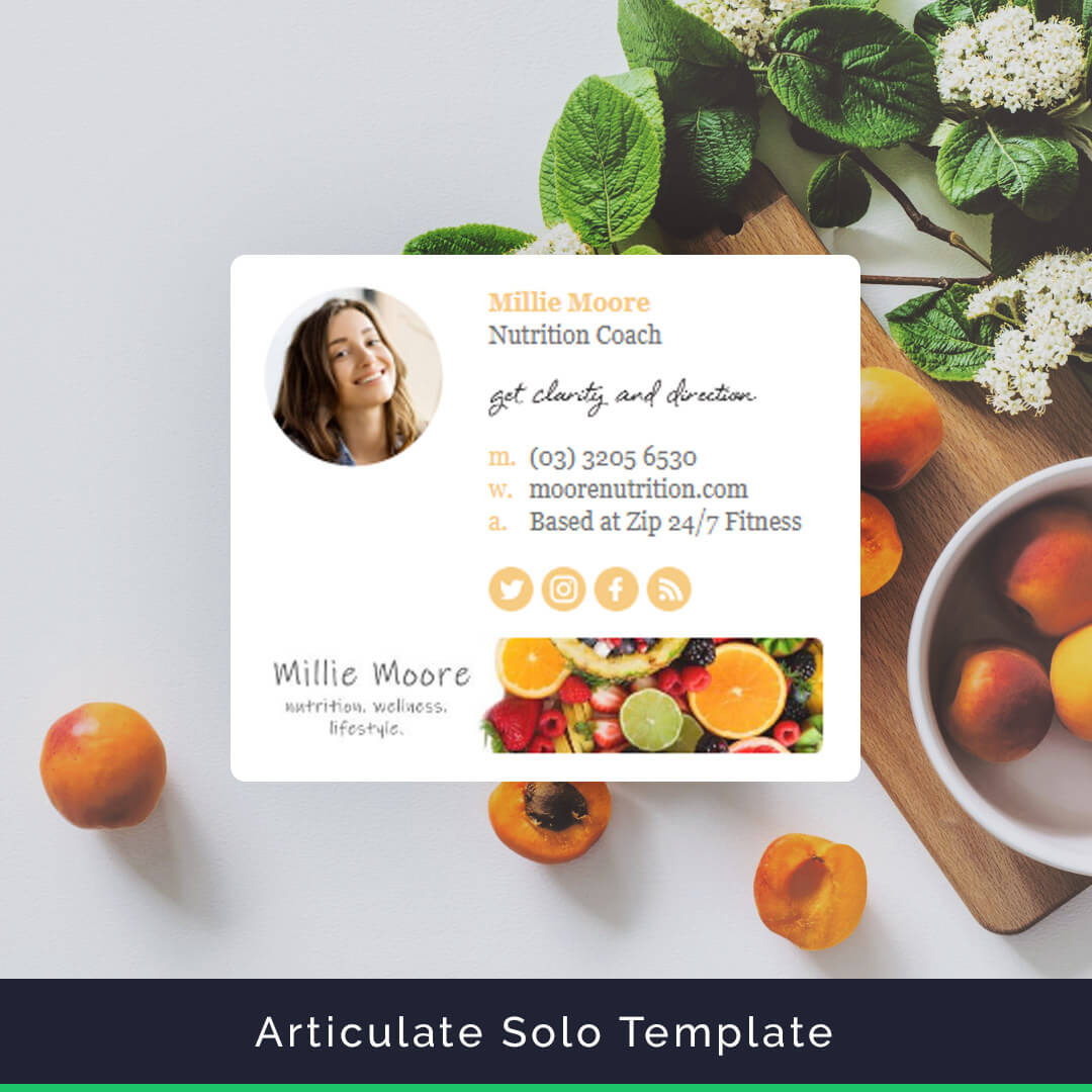articulate email signature template