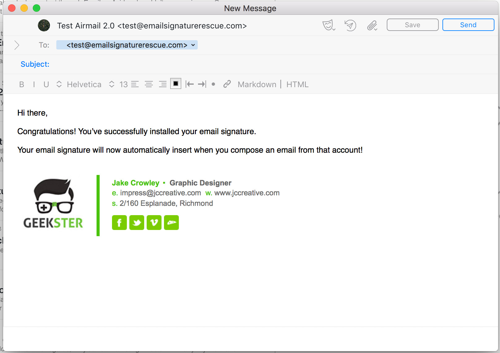 How to setup an email signature in Airmail 3