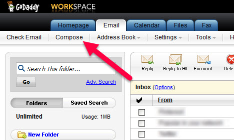 how to add new email to godaddy
