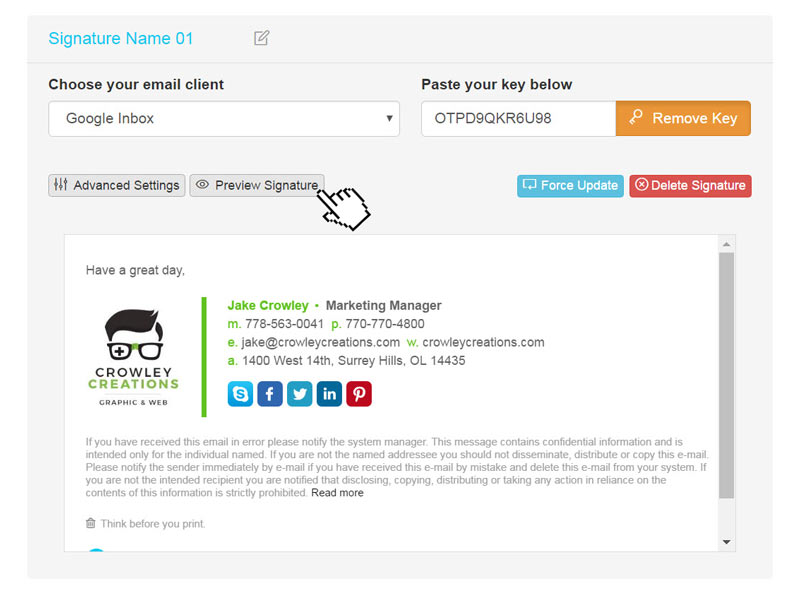Free Email Signature Templates For Gmail