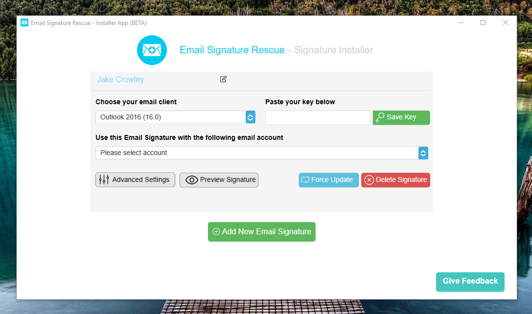 esr email signature installer app