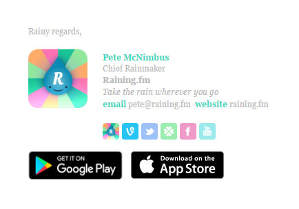 Articulate Rainingfm Email Signature Template