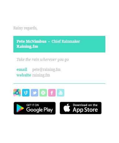 Colorbar Email Signature Template Example