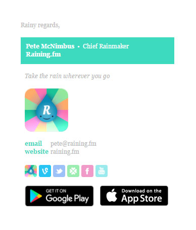 Colorbar Vert Rainingfm Email Signature Template