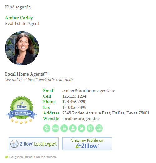 Bizedge Real Estate Email Signature Template