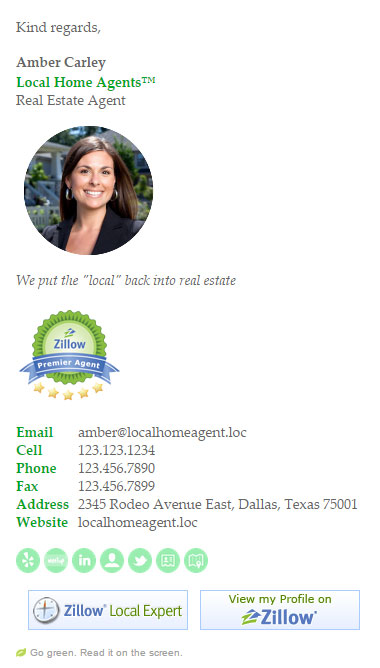 Corporate Real Estate Email Signature Template