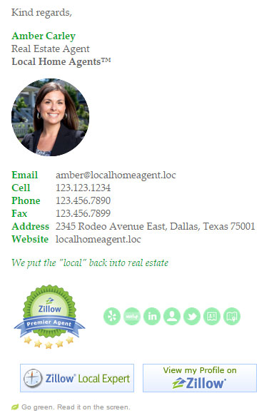 Formal Real Estate Email Signature Template