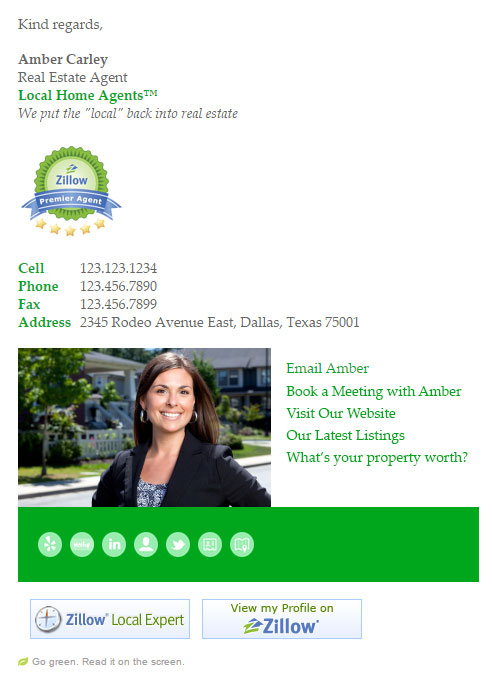 real estate agent email signature templates