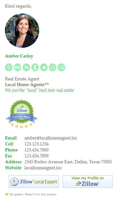 Socialite Real Estate Email Signature Template