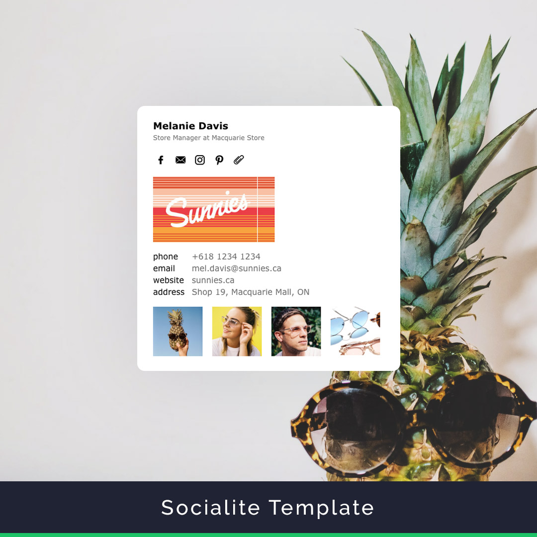 Socialite email signature template