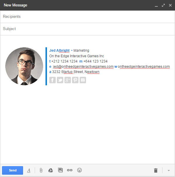gmail rich text on