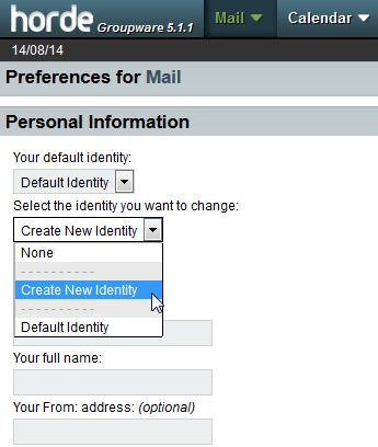 Step Six - Fill out your identity settings, tick HTML signature checkbox, click HTML button