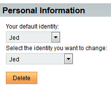 Step Nine - Change default identity to the one you've just created