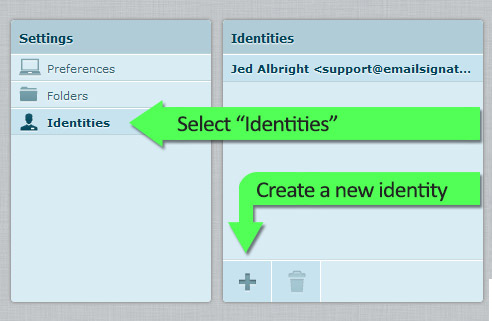 Step Five - Create a new identity
